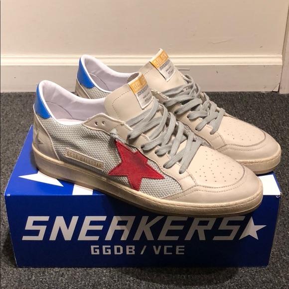 Golden Goose Men's Sneakers Ball Star Grey Cord NWT